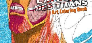 Un cahier de coloriages pour l'Attaque des titans