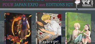 Trois mangas reliés pour les éditions H2T