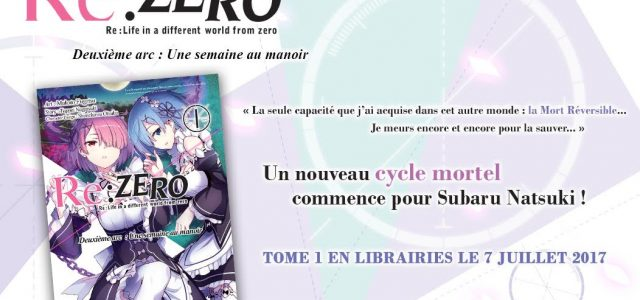 Second cycle de Re:Zero chez Ototo Manga