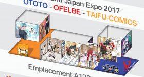 JE 18e impact : le stand des éditions Ototo, Ofelbe et Taifu