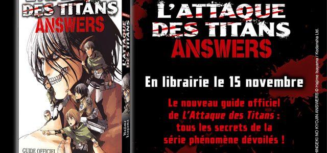 Nouveau Guide pour L'Attaque des Titans