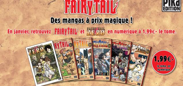 Fairy Tail à petit prix en numérique