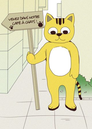 Qui prendra soin du chat jaune ?