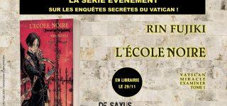 Le roman L'école noire annoncé aux éditions De Saxus