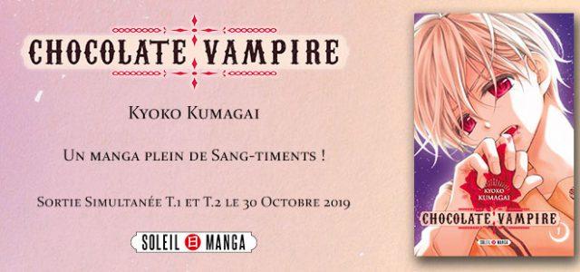 Le shôjo Chocolate Vampire annoncé chez Soleil Manga