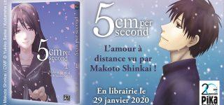 Le manga 5cm per Second chez Pika