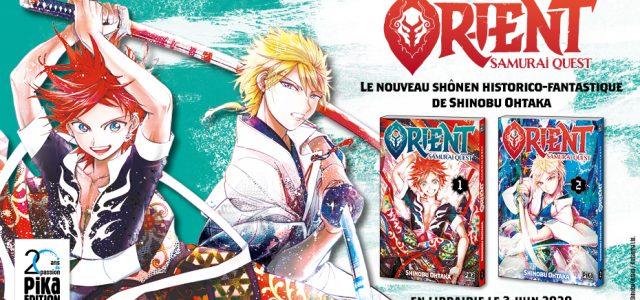 Le manga Orient annoncé chez Pika